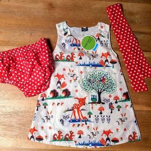 Other - New baby girl dress 80 12 months bloomers hair bow